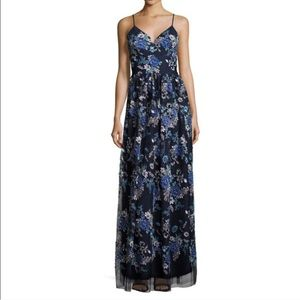 Nicole Miller New York deep v floral maxi dress
